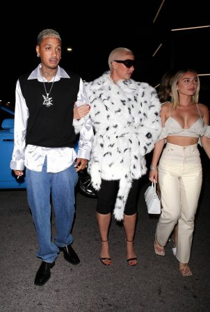 Amber Rose - With Camaryn Swanson at The Nice Guy in West Hollywood