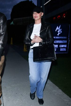 Amber Rose - With her boyfriend Alexander Edwards night out in West Hollywood