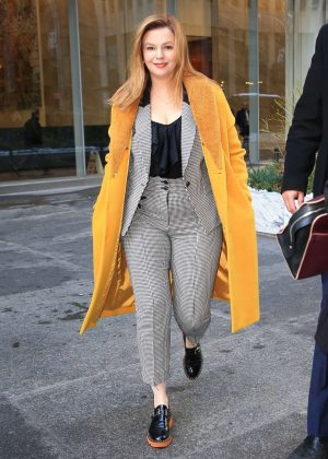 Amber Tamblyn - Out during a promotional tour in New York