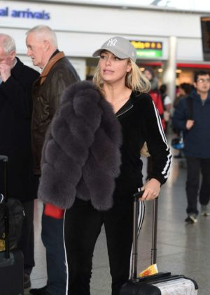 Amber Turner at Heathrow Airport in London
