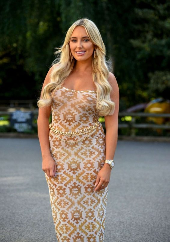 Amber Turner filming for series 25 in Essex