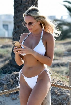 Amber Turner - In a Bikini at a Beach in Spain