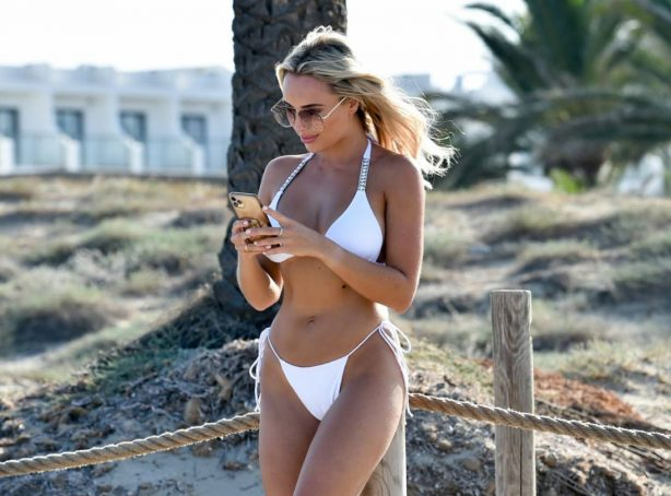 Amber Turner - In a Bikini at a Beach in Spain