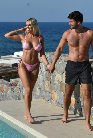 Amber Turner - In a bikini by the pool in Turkey