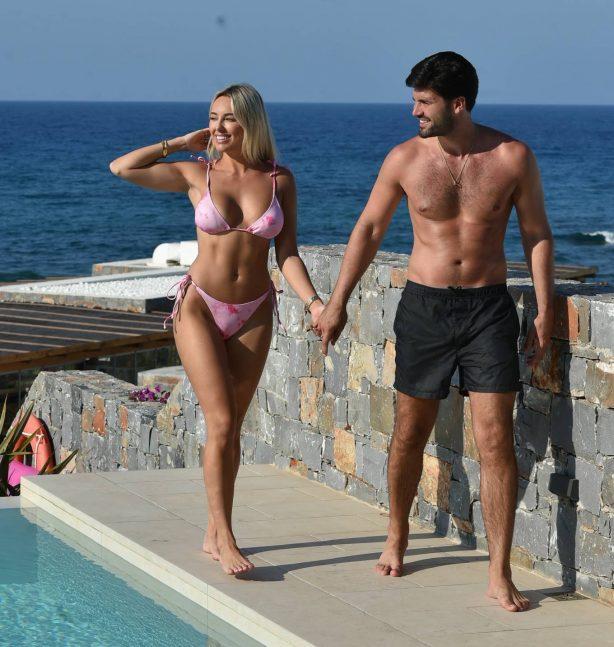 Amber Turner - In a bikini by the pool in Turkey