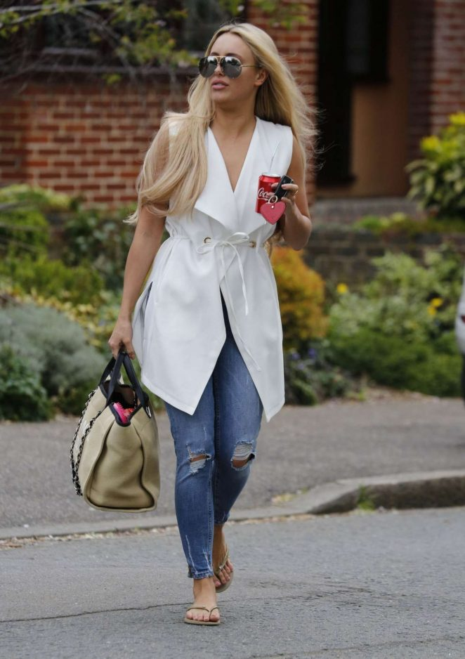Amber Turner in Jeans Out in London