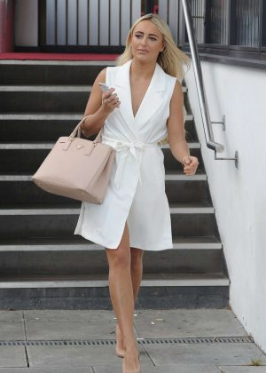 Amber Turner in White Dress at La Sala in Chigwell Essex
