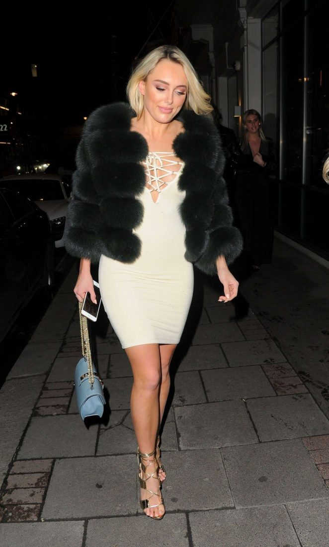 Amber Turner - Night out in Mayfair