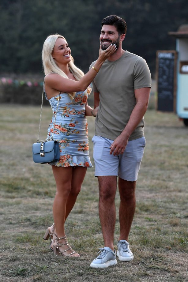 Amber Turner - On the set for 'The Only Way is Essex' TV show in Essex