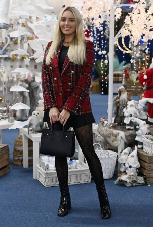 Amber Turner - On the set of 'The Only Way is Essex' Christmas TV Show