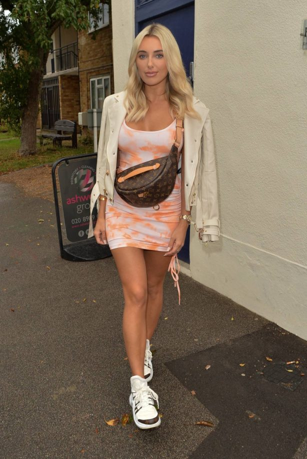 Amber Turner - Possing at Hair by Holly salon in Buckhurst Hill
