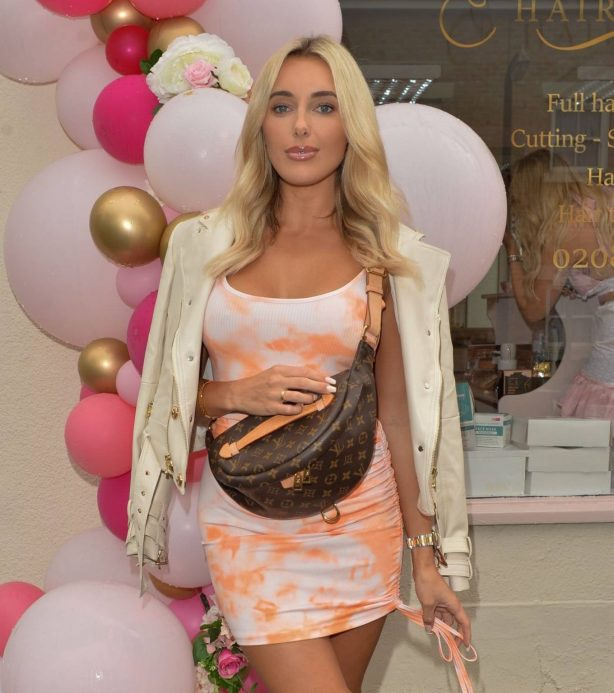 Amber Turner - Possing at Hair by Holly Salon Opening in Buckhurst Hill