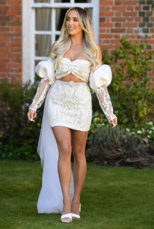 Amber Turner - The Only Way is Essex TV Show filming - Bridgerton Special in Essex