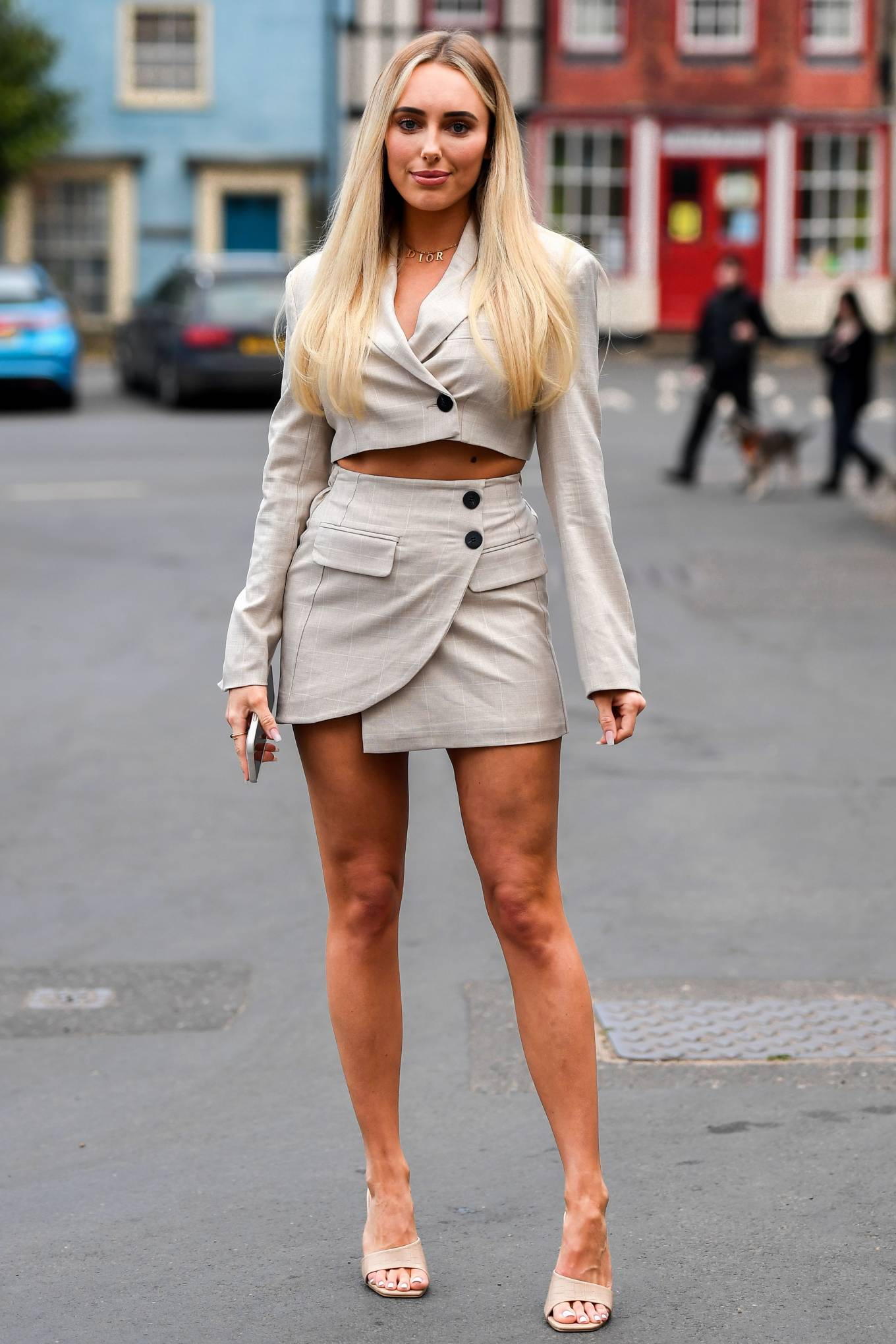 Amber Turner - The Only Way is Essex TV Show filming in Cromer