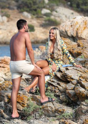 Amber Turner - 'The Only Way Is Essex' TV show filming in Sardinia