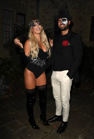 Amber Turner - TOWiE TV Show filming, Halloween Special