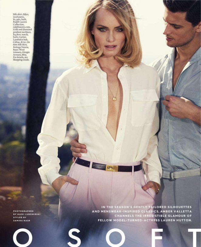 Amber Valetta - Elle Magazine (April 2018)