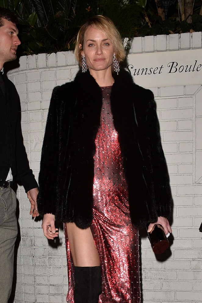 Amber Valletta - Arrives to the W Magazine Golden Globe Party in LA