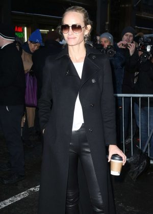 Amber Valletta - Arriving at the Calvin Klein Collection Show 2017 in NY