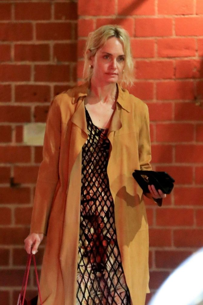 Amber Valletta at Mr. Chow in Beverly Hills