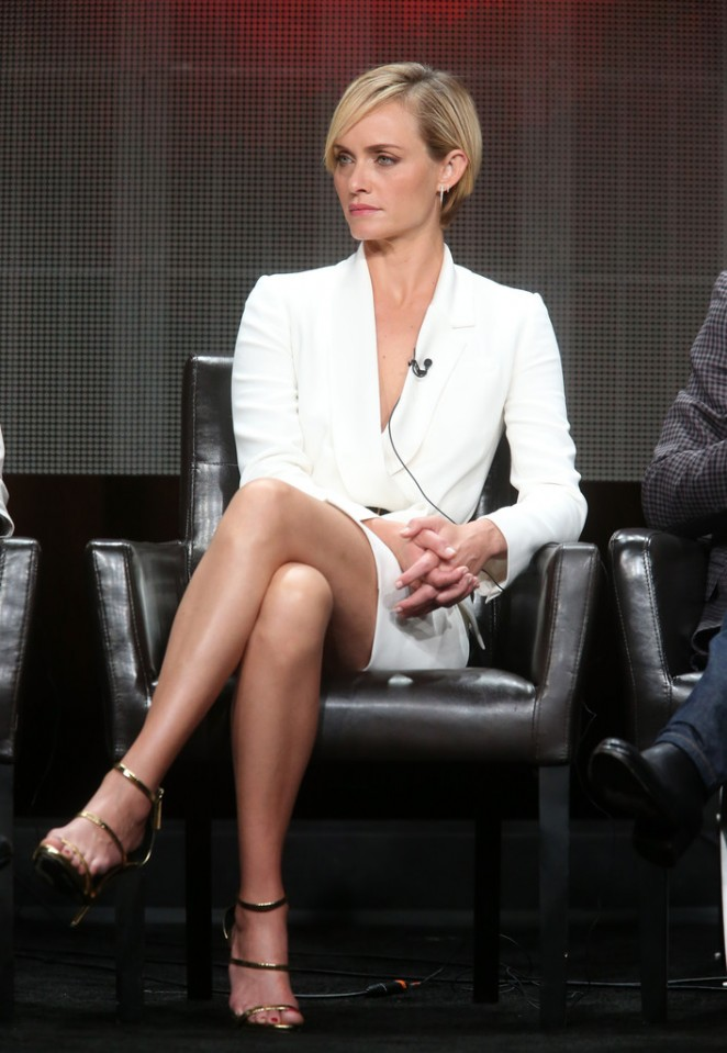 Amber Valletta - 'Blood & Oil' Panel 2015 Summer TCA Tour ...