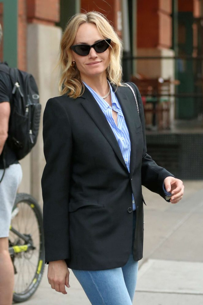 Amber Valletta - Leave the Greenwich Hotel in New York City