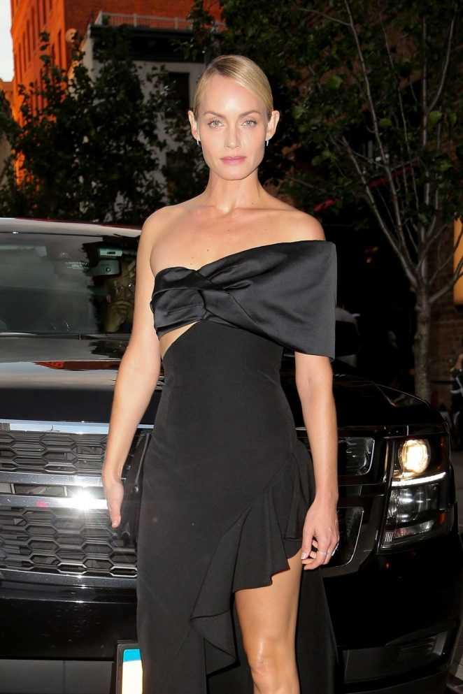 Amber Valletta - Leaving The Greenwich Hotel in New York