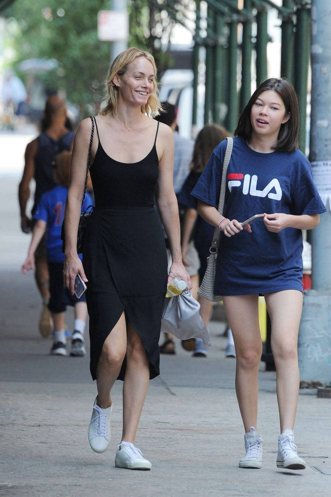 Amber Valletta out in New York -01