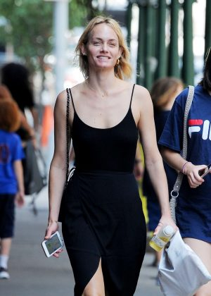 Amber Valletta out in New York