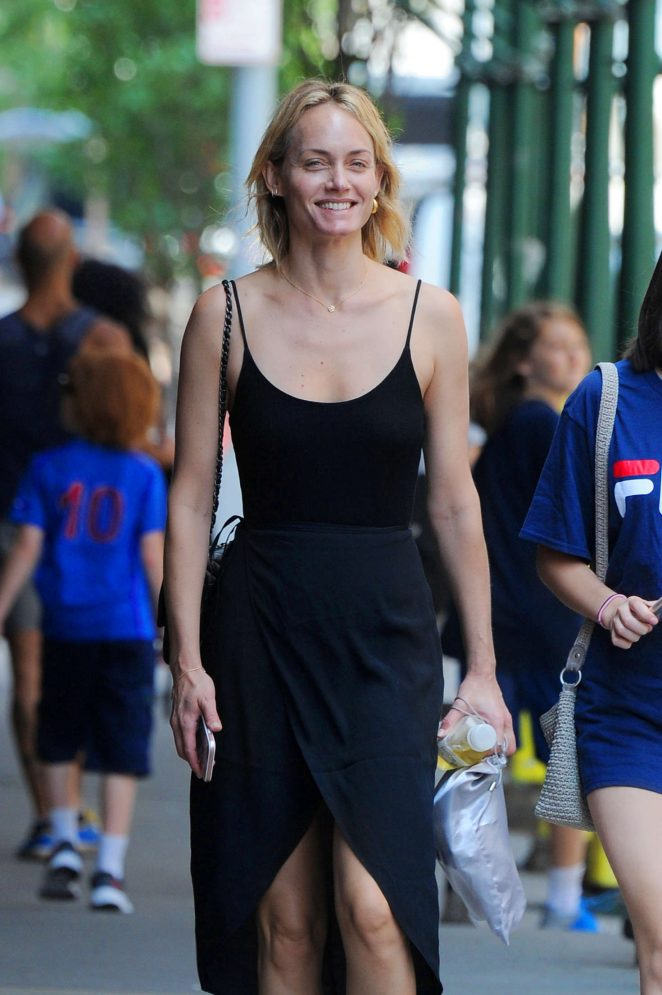 Amber Valletta out in New York -12