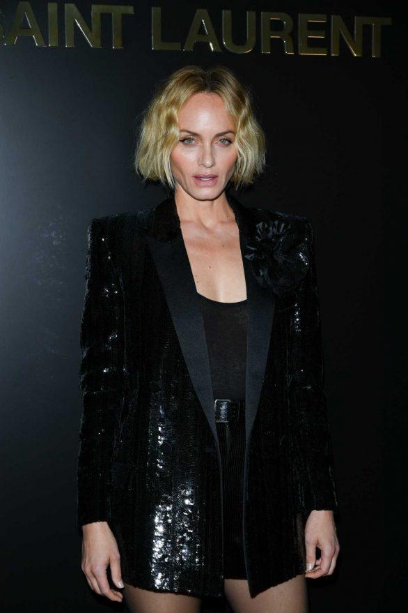 Amber Valletta - Saint Laurent Show at Paris Fashion Week 2020