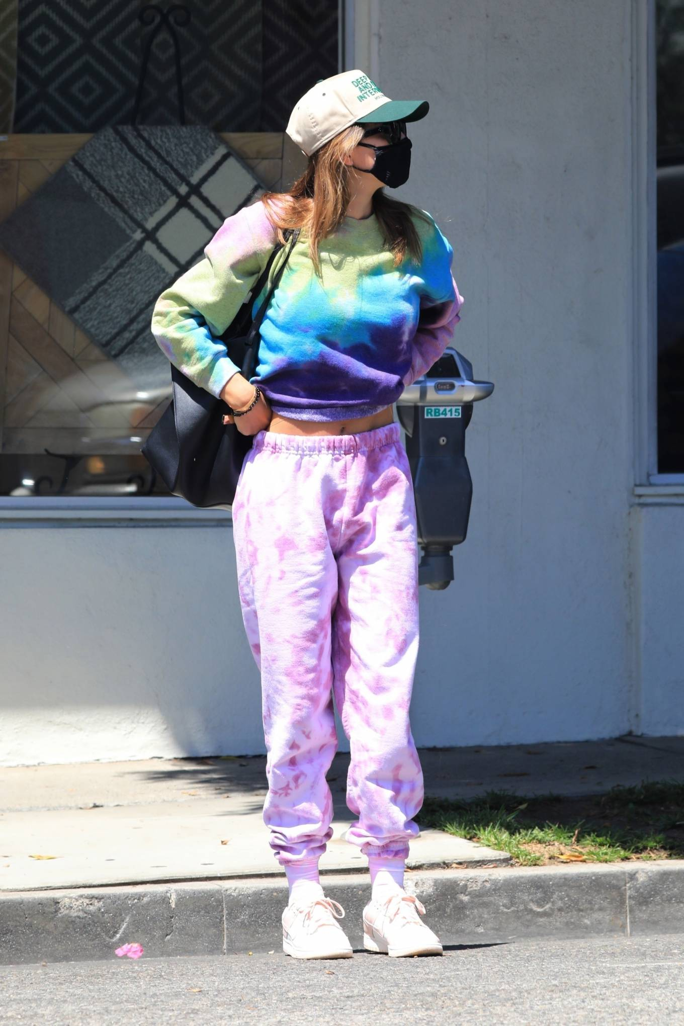 Amelia Gray Hamlin - Rocks a colorful tie-dye ensemble while out for shopping in West Hollywood