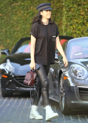 Amelia Hamlin at Cecconi's Restaurant in Beverly Hills