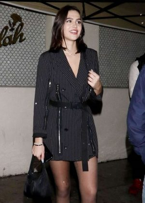 Amelia Hamlin at Delilah Nightclub in West Hollywood