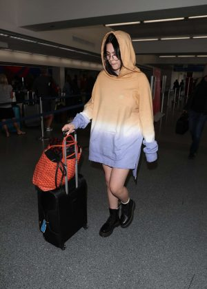 Amelia Hamlin at LAX Airport in Los Angeles