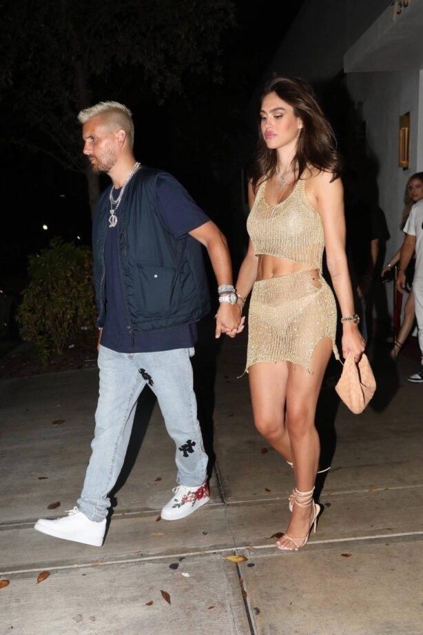 Amelia Hamlin - celebrating her 20th birthday with her boyfriend Scott Disick in Miami