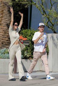 Amelia Hamlin - Heading to Cha Cha Matcha with her boyfriend in LA