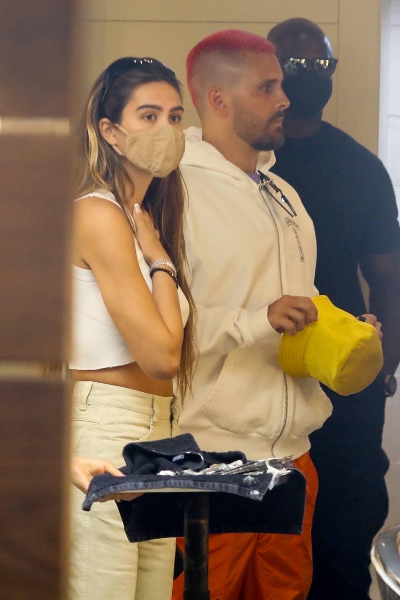 Amelia Hamlin 2021 : Amelia Hamlin – Seen with Scott Disick as they visit Meche Salon in Beverly Hills-19