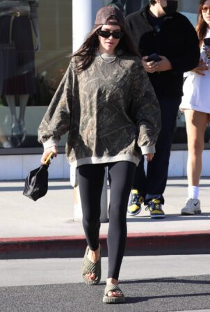 Amelia Hamlin -With mystery man at Croft Alley in Beverly Hills