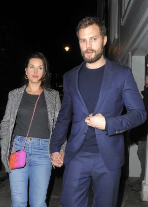 Amelia Warner and Jamie Dornan at Soho House in London