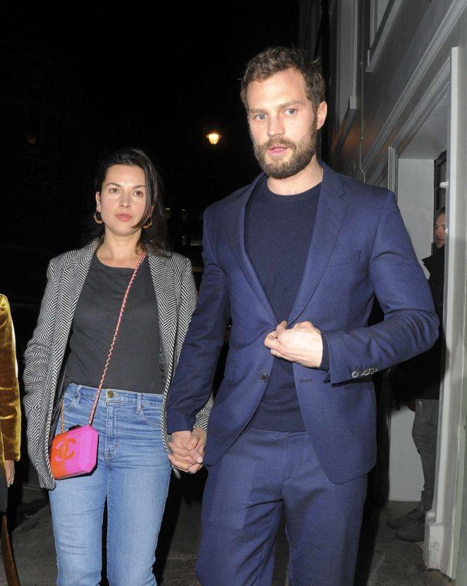 Amelia Warner and Jamie Dornan at Soho House in London