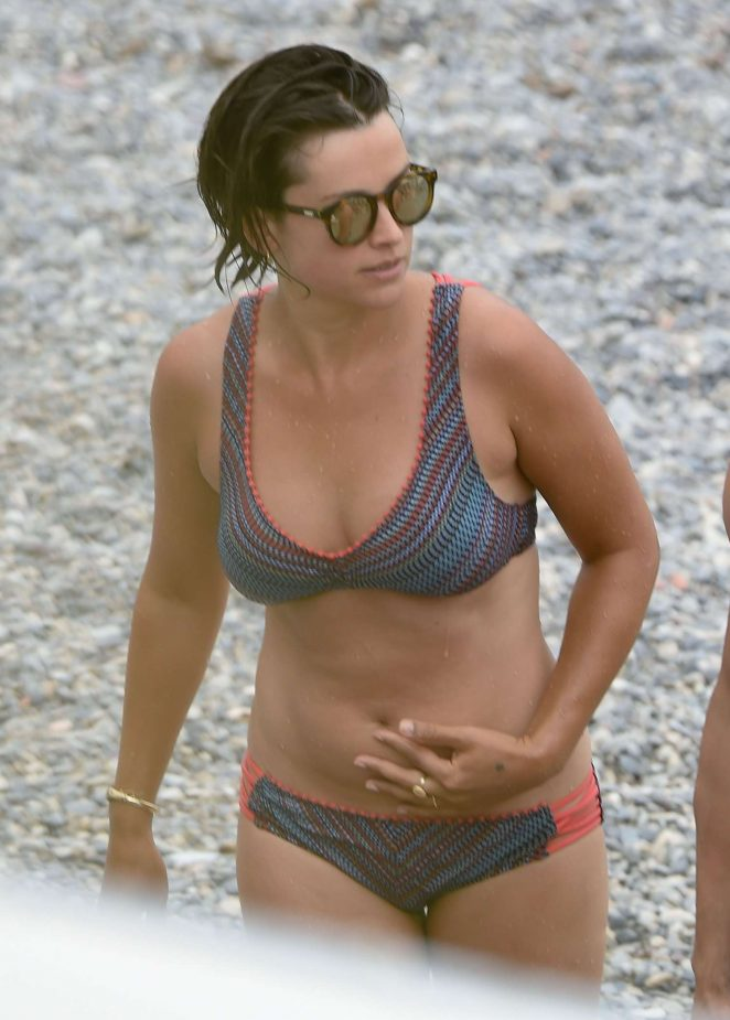 Amelia Warner in Bikini on the set of 'Fifty Shades Darker' in France
