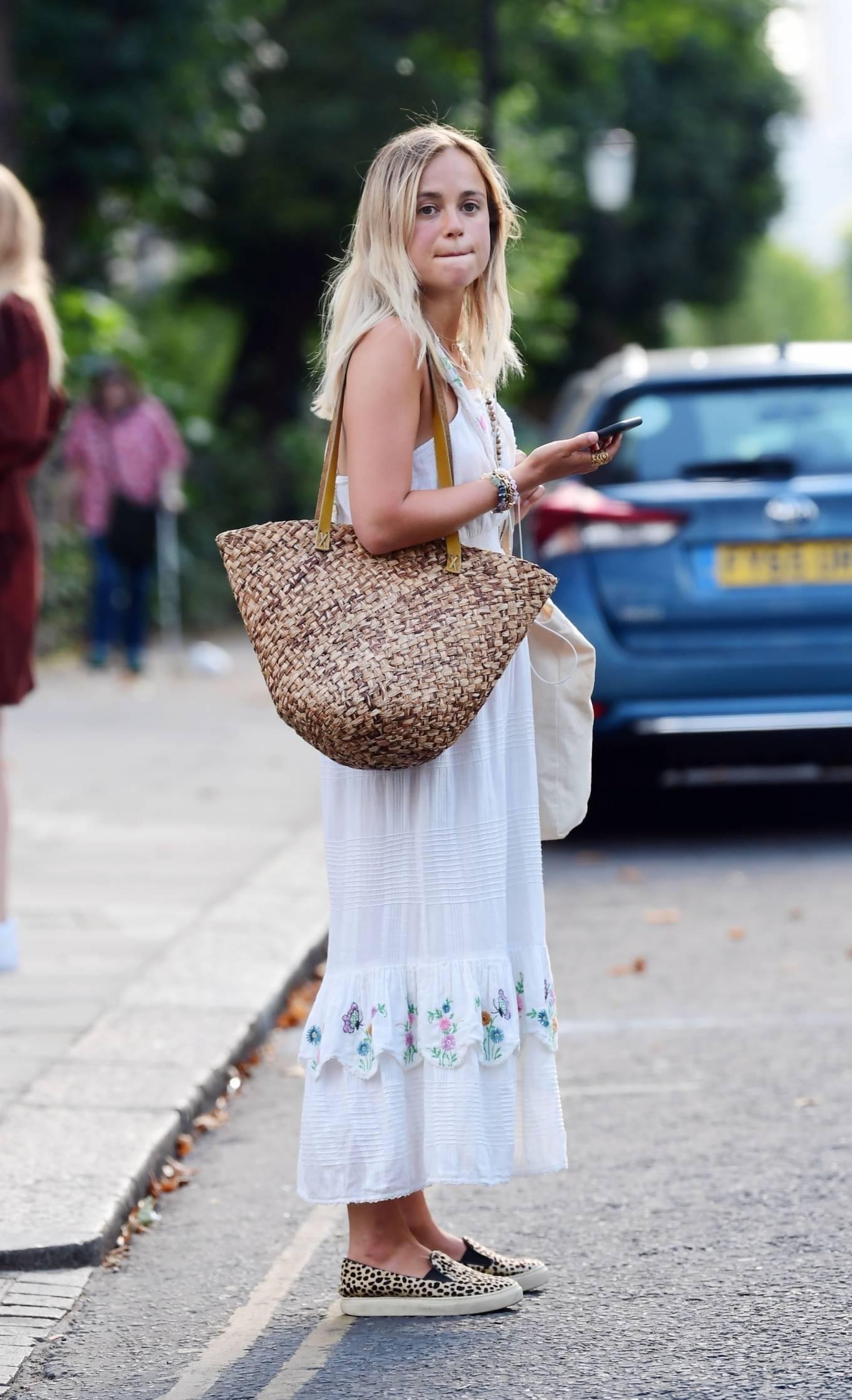 Amelia Windsor 2020 : Amelia Windsor – Looks stunning in a white summery dress in London-03