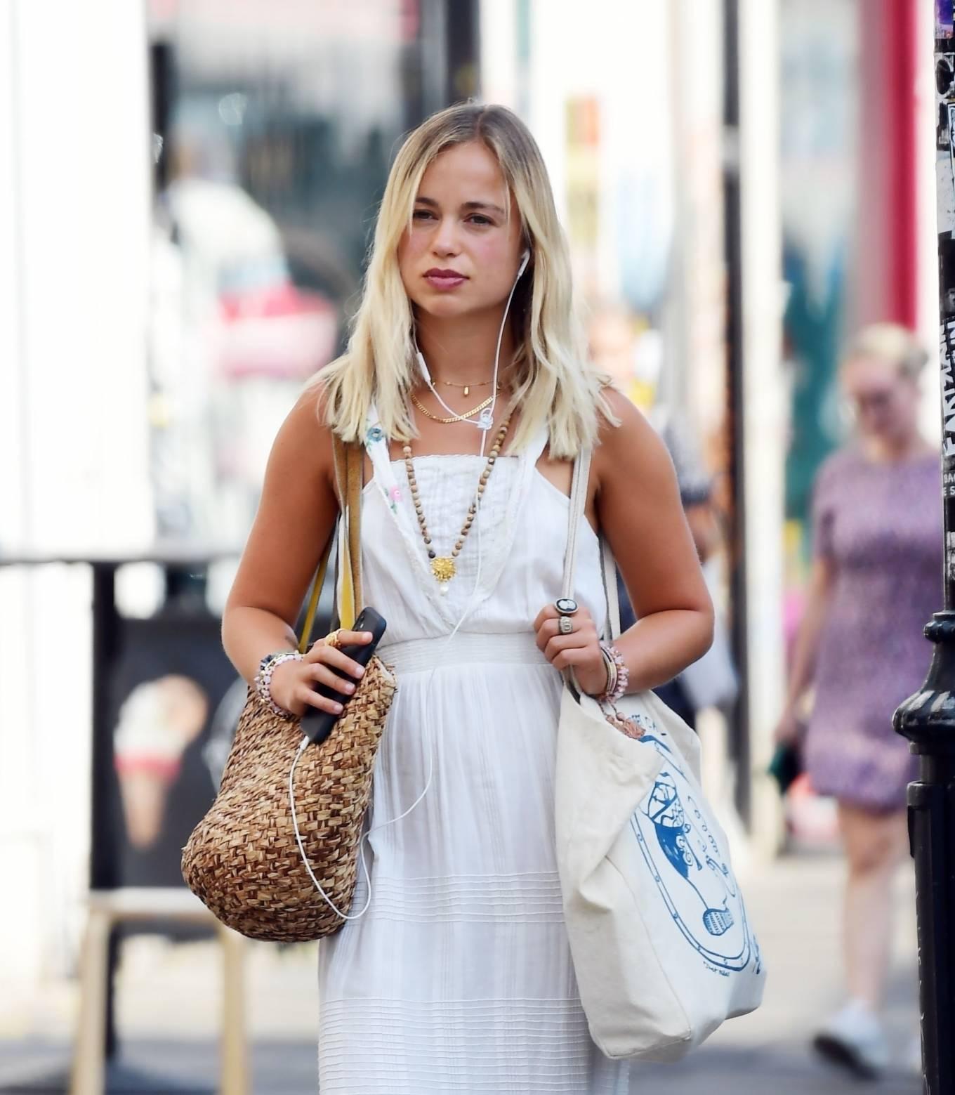 Amelia Windsor - Looks stunning in a white summery dress in London