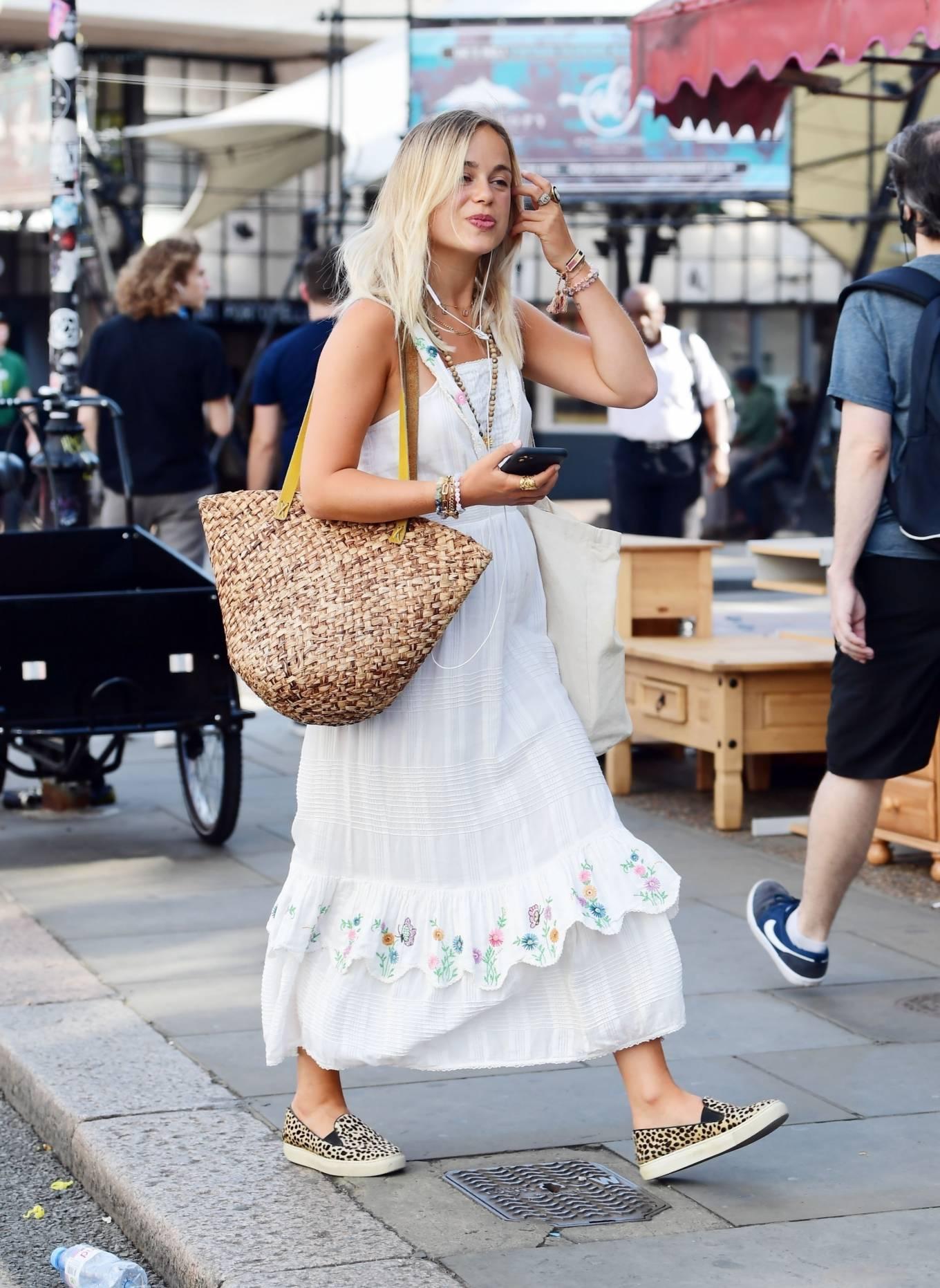 Amelia Windsor 2020 : Amelia Windsor – Looks stunning in a white summery dress in London-07