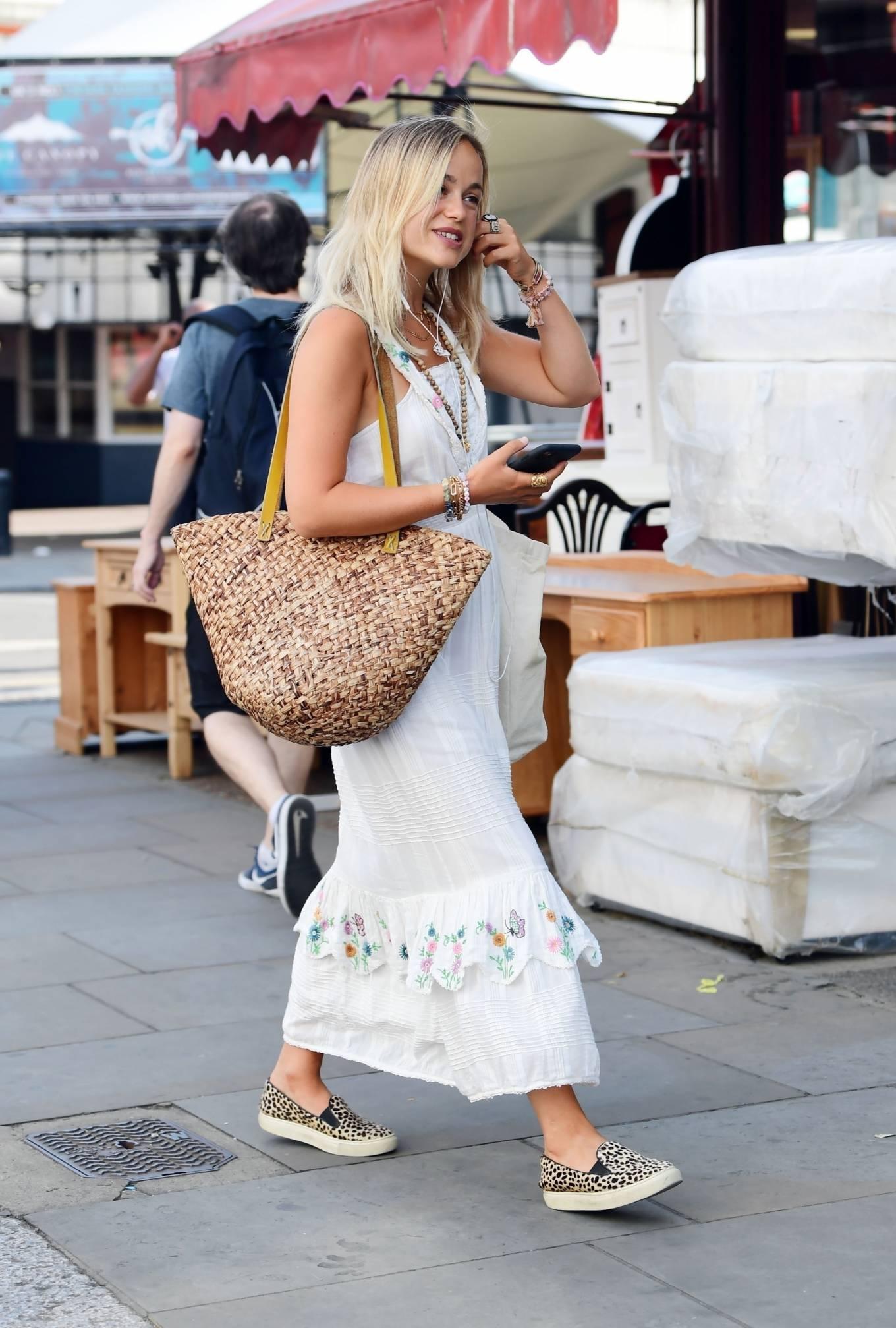 Amelia Windsor 2020 : Amelia Windsor – Looks stunning in a white summery dress in London-11