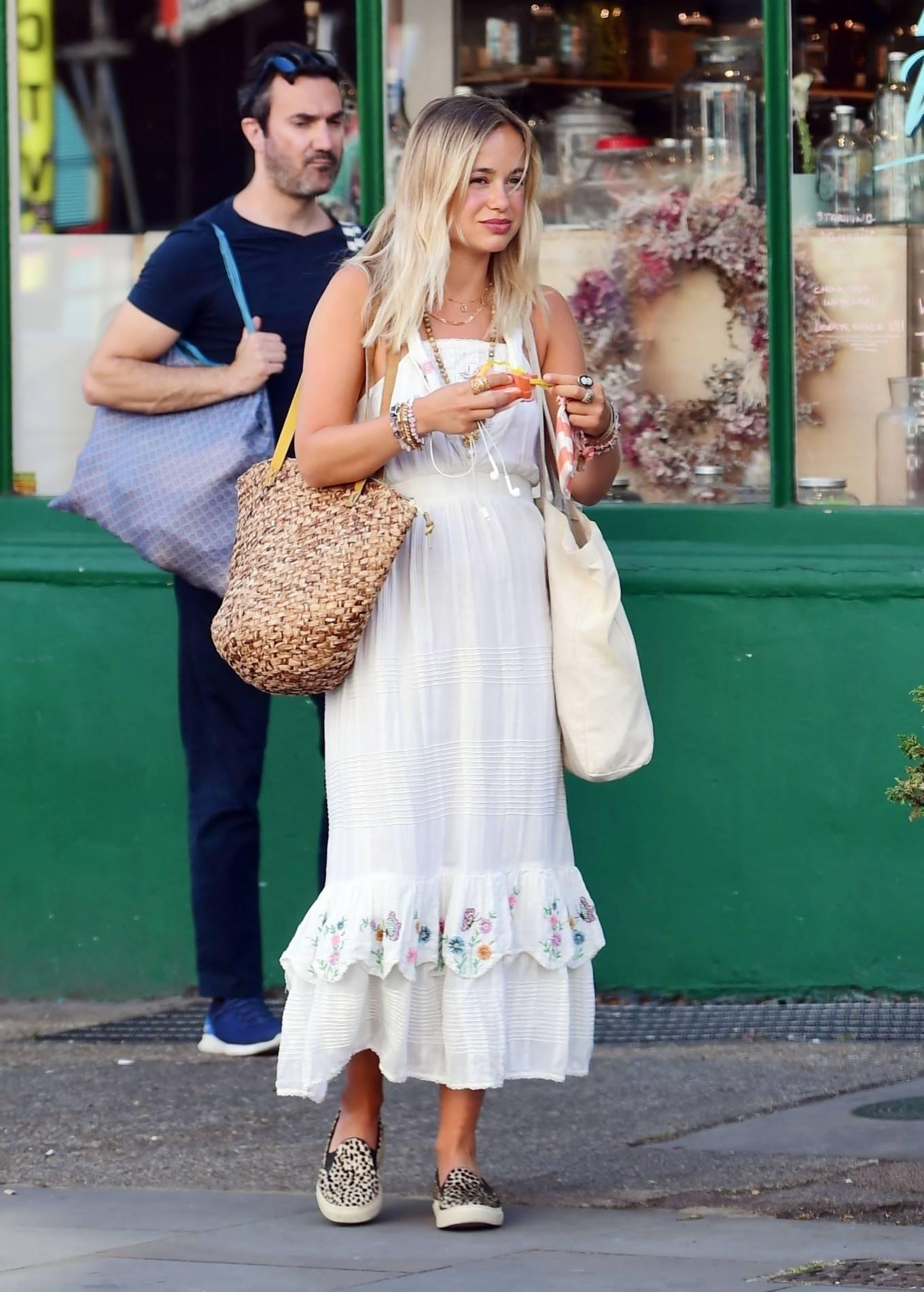 Amelia Windsor 2020 : Amelia Windsor – Looks stunning in a white summery dress in London-12