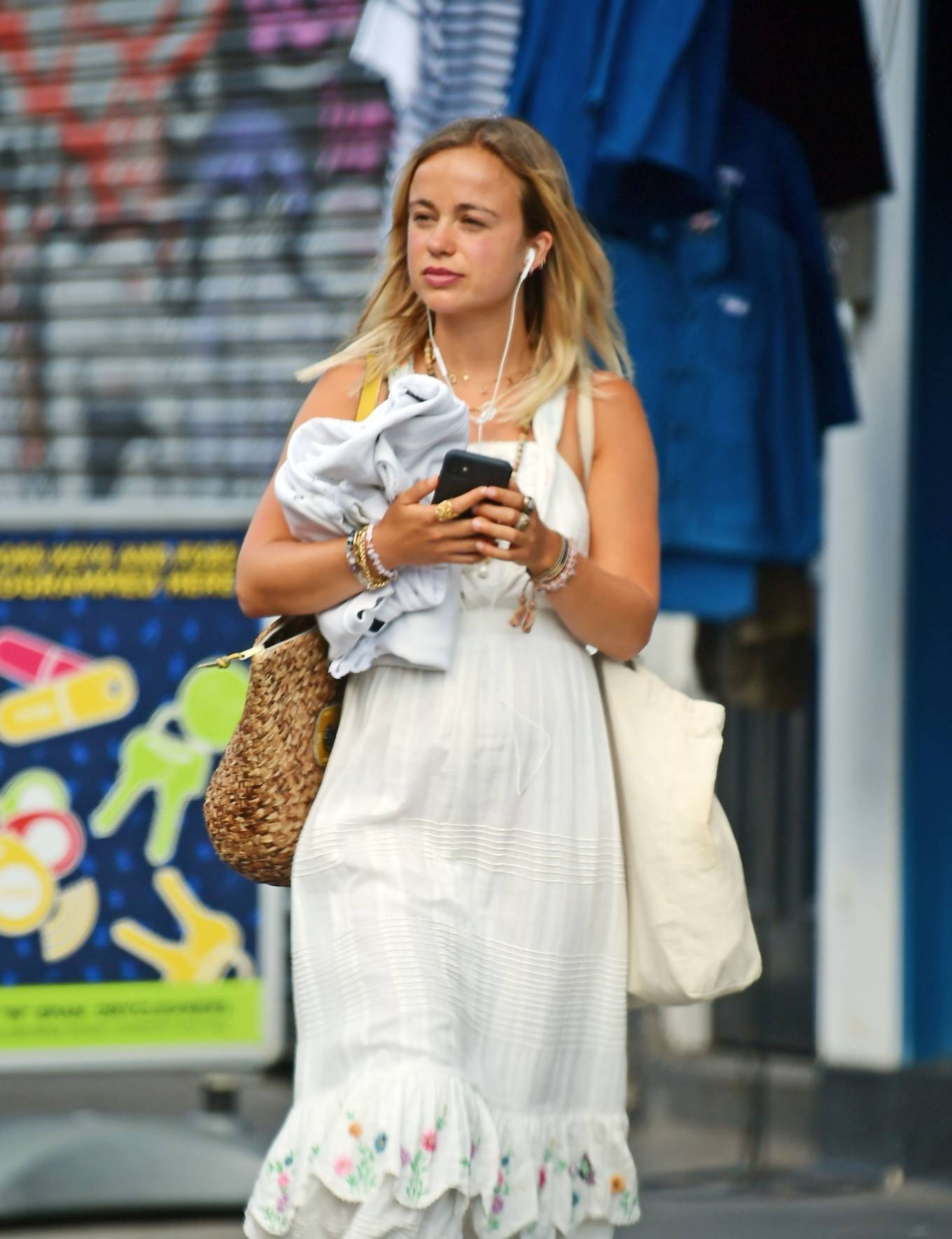Amelia Windsor 2020 : Amelia Windsor – Looks stunning in a white summery dress in London-17