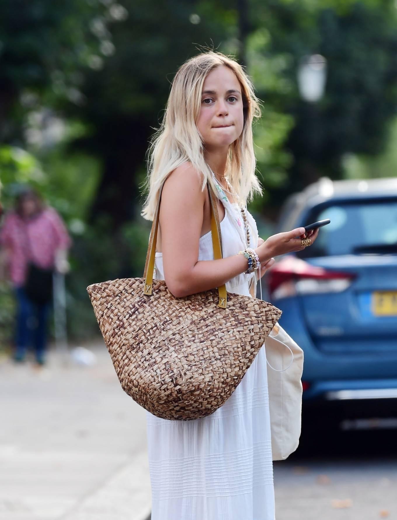 Amelia Windsor 2020 : Amelia Windsor – Looks stunning in a white summery dress in London-20