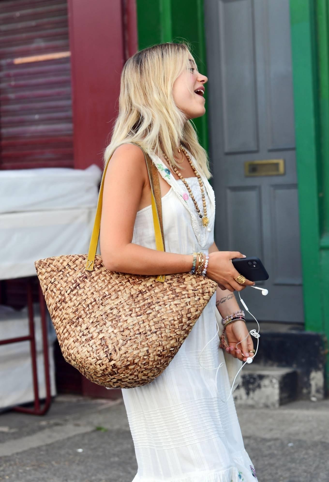 Amelia Windsor 2020 : Amelia Windsor – Looks stunning in a white summery dress in London-21